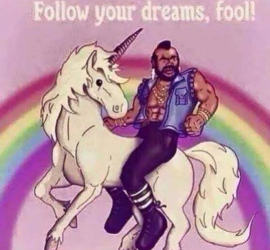Unicorn Mr T foo
